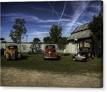 Three Old Timers Canvas Print by Thomas Young
