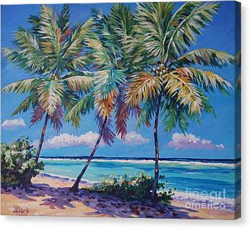 Three Palms- East End Canvas Print by John Clark