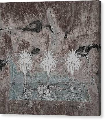 Festival Canvas Print - Three Palms Oasis by Carol Leigh