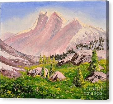 Three Peaks Canvas Print