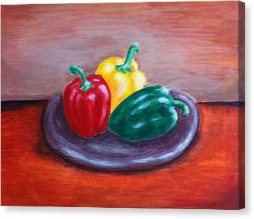 Three Peppers Canvas Print