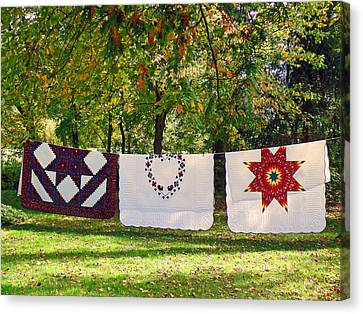 Three Quilts Canvas Print
