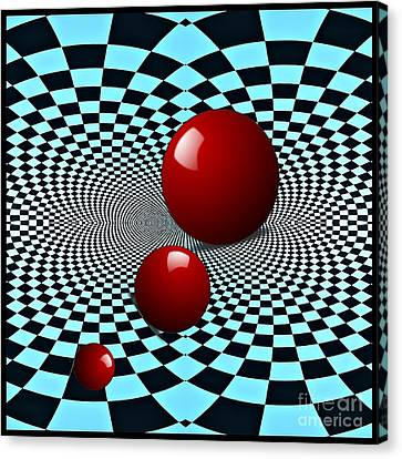 Three Red Balls Canvas Print by Sarah Loft