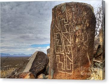 Three Rivers Petroglyphs 4 Canvas Print by Bob Christopher