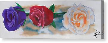 Three Roses Canvas Print by Michael Hall