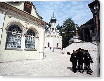 Three Russian Orthodox Priests At Zagorsk Monestery 1967  Canvas Print