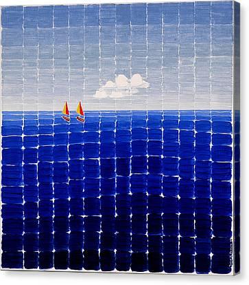 Three Sail Boats #2 Canvas Print