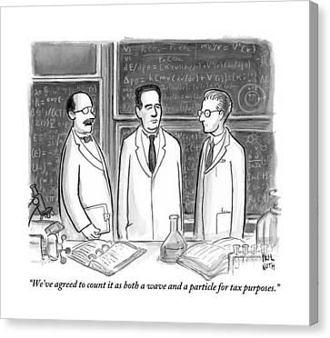 Three Scientists In A Lab Canvas Print