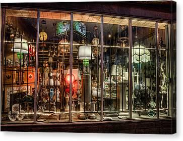 Three Shade Lamp Store Canvas Print by Mark Goodman