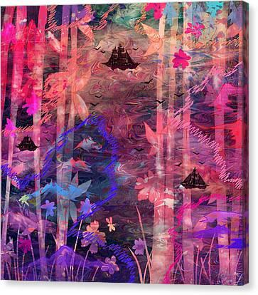 Three Ships Canvas Print by Rachel Christine Nowicki