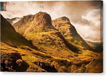 Three Sisters. Glencoe. Scotland Canvas Print