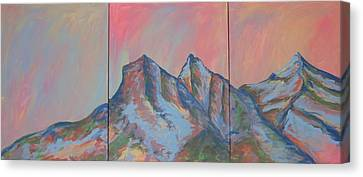 Canvas Print - Three Sisters Mountians Alberta by Cherie Sexsmith