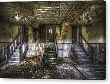 Three Stairs To Nowhere Canvas Print by Nathan Wright
