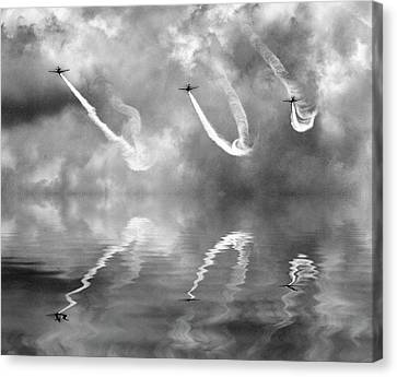 Jet Canvas Print - Three Steel Bird by Antonyus Bunjamin (abe)