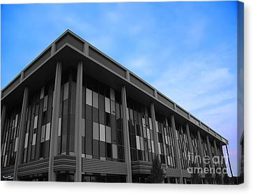 Three Story Selective Color Building Canvas Print by Bill Woodstock