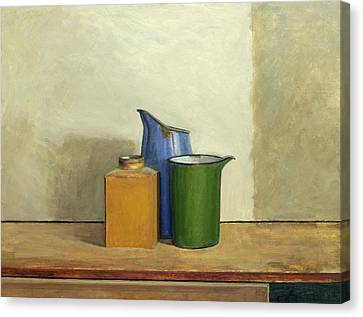 Three Sizes Canvas Print - Three Tins Together by William Packer