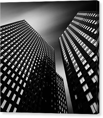 Light And Dark Canvas Print - Three Towers by Dave Bowman