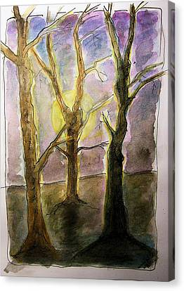 Three Trees Canvas Print by Mimulux patricia no No