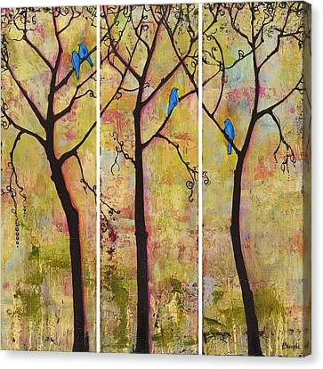 Blendastudio Canvas Print - Three Trees Triptych by Blenda Studio