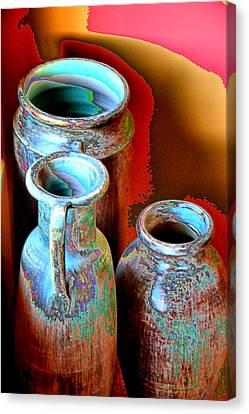 Three Urns Canvas Print