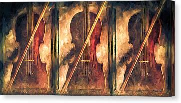 Three Violins Canvas Print by Bob Orsillo