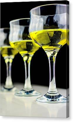 Three Wineglass In Wine Colors Canvas Print