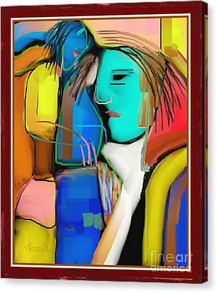 Three Women Conversing Canvas Print by Nedunseralathan R
