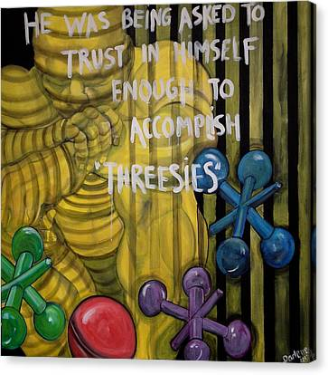 Threesies Canvas Print by Darlene Graeser