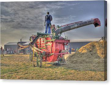 Threshing At Rollag Canvas Print