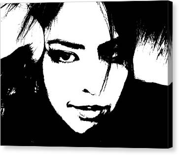 Canvas Print featuring the photograph Threshold Self Portrait by Zinvolle Art