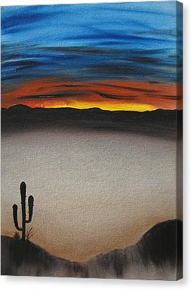 Sun Rays Canvas Print - Thriving In The Desert by Sayali Mahajan