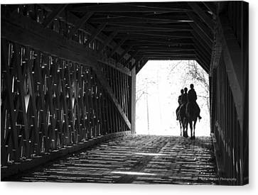 Canvas Print featuring the photograph Through A Covered Bridge by Phil Abrams