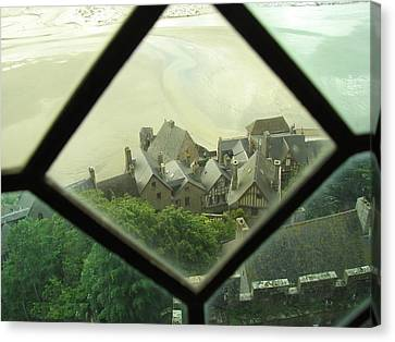 Through A Window To The Past Canvas Print by Mary Ellen Mueller Legault