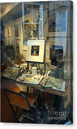 Pallet Knife Canvas Print - Through An Artists Window by Terri Waters