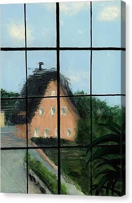 Through An Old Glass Window Canvas Print