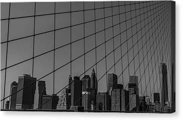 Through Brooklyn Bridge Canvas Print by Chris Fletcher