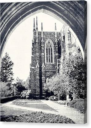 Through The Arch In Black And White Canvas Print