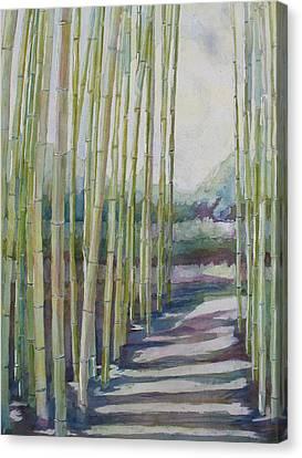Through The Bamboo Grove Canvas Print