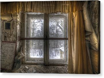 Through The Dirty Window Canvas Print by Nathan Wright