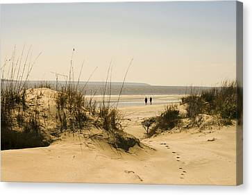 Through The Dunes Canvas Print by Barbara Northrup