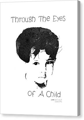 Canvas Print featuring the drawing Through The Eyes Of A Child by Arthur Eggers
