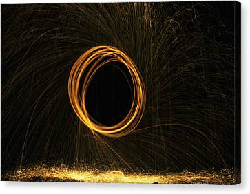 Through The Fire And Flames Canvas Print