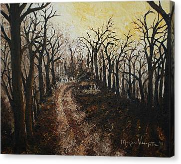Through The Forest Canvas Print by Monica Veraguth