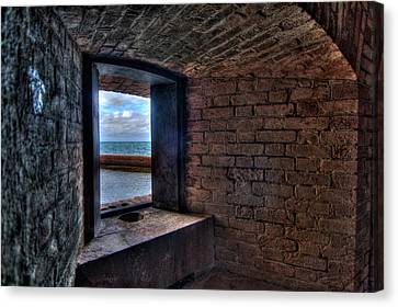 Through The Fort Window Canvas Print by Andres Leon
