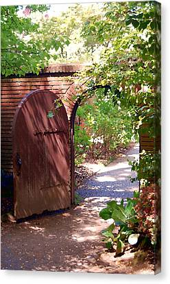 Through The Garden Gate Canvas Print by Tamyra Crossley