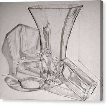 Through The Glass Canvas Print by Jen Santa