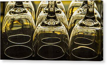Wine Service Canvas Print - Through The Glasses by Jean Noren