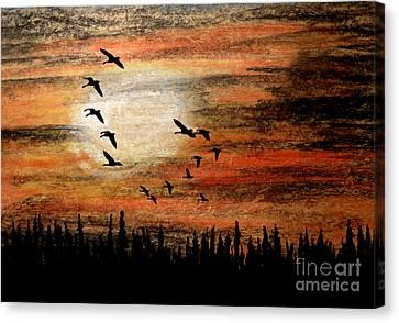 Through The Haze Canvas Print by R Kyllo