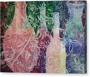 Canvas Print featuring the painting Through The Lace by Roxanne Tobaison