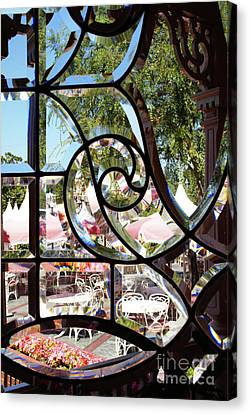 Through The Looking Glass Canvas Print by Linda Shafer